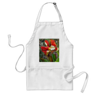 Nature Red Flower Floral Photography Standard Apron