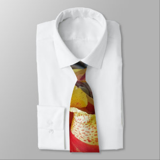 Nature Red Flower Floral Photography Tie