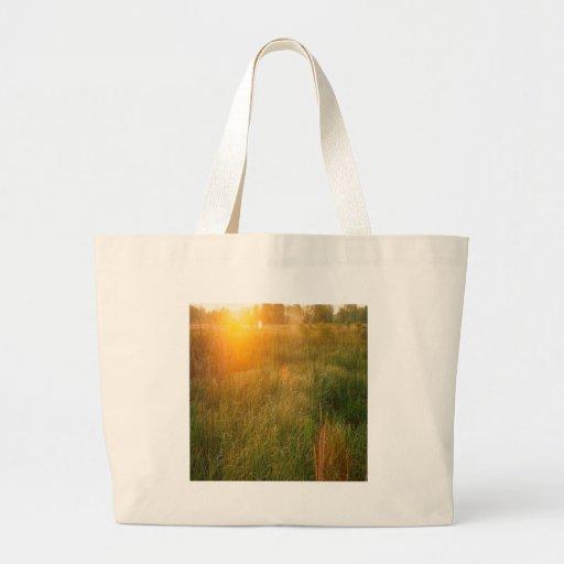 Nature Reserve Sunshine Canvas Bags