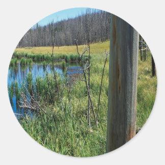Nature Reserve Wilderness Water Hole Round Sticker
