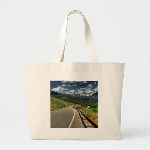 Nature Road Mountian Valley Tote Bags