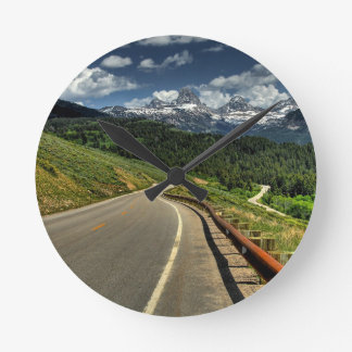 Nature Road Mountian Valley Wall Clocks