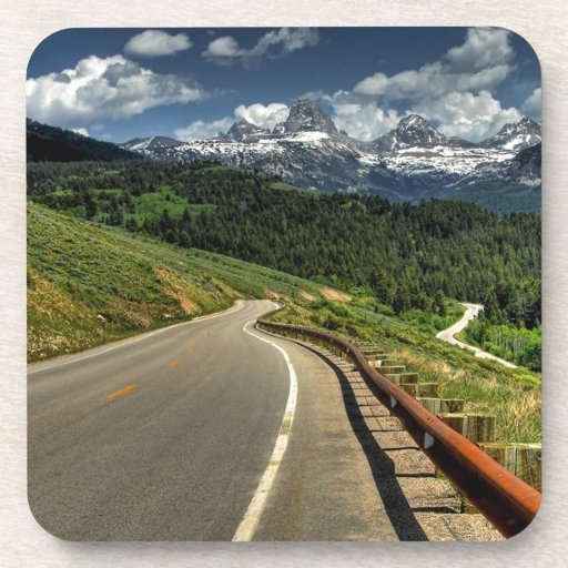 Nature Road Mountian Valley Drink Coaster