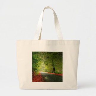 Nature Road Springtime Woods Canvas Bags