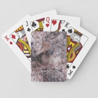 Nature Rock Texture Pinkish Playing Cards
