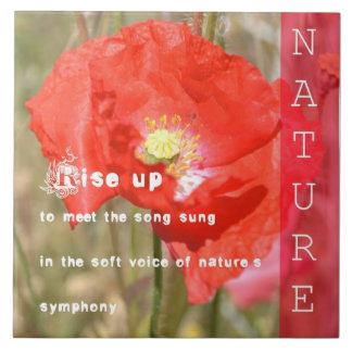 Nature s Symphony Poetry Ceramic Tile