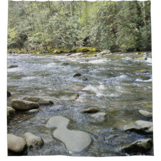 Nature Scene Mountain Stream Shower Curtain