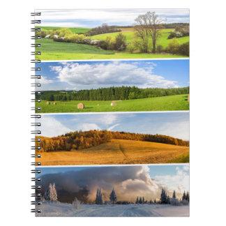 Nature scenes notebook