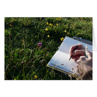 """Nature Sketching"" Card"