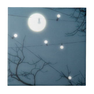 Nature Sky Lights Small Square Tile