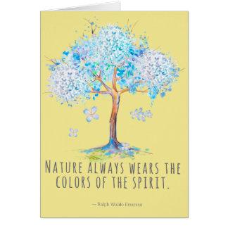 Nature Spirit Emerson Quote Card