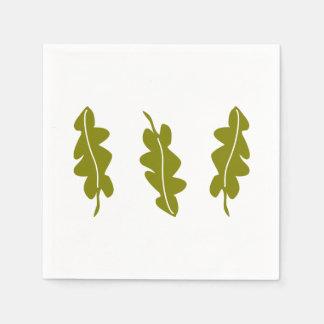 Nature Spring Green Leaves Pattern, Boho Hipster Disposable Serviette