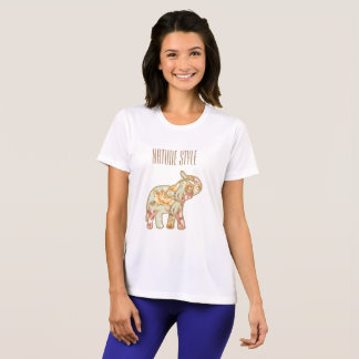 Nature Style Elephant With Trunk Up T-Shirt