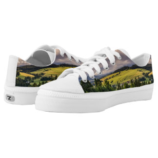 Nature Sunset Hills Landscape In Poland Printed Shoes