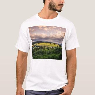 Nature Sunset Hills Landscape In Poland T-Shirt