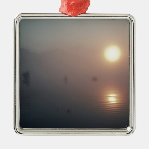 Nature Sunset Mistic Lake Ornaments
