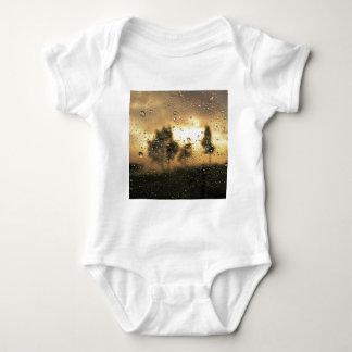 Nature Sunset Through The Window Baby Bodysuit
