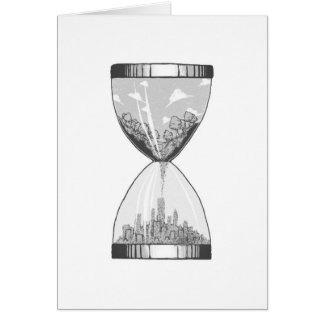 Nature To City Hourglass Illustration Card