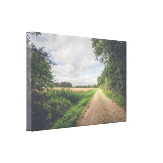 Nature trail in a countryside landscape canvas print