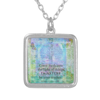 Nature Tree Quote Wordsworth Silver Plated Necklace