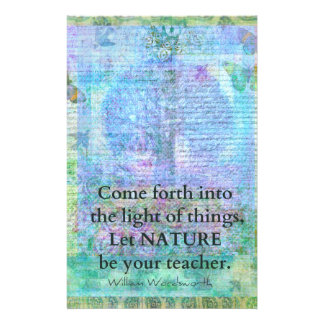 Nature Tree Quote Wordsworth Stationery Paper