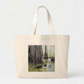 Nature Trees Autumn Swamp Canvas Bag