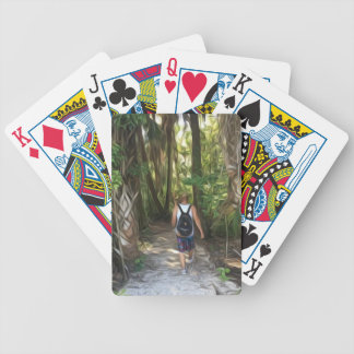 Nature Trippin Bicycle Playing Cards