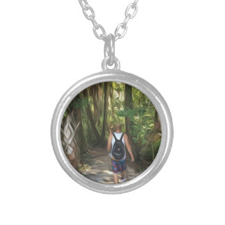 Nature Trippin Silver Plated Necklace
