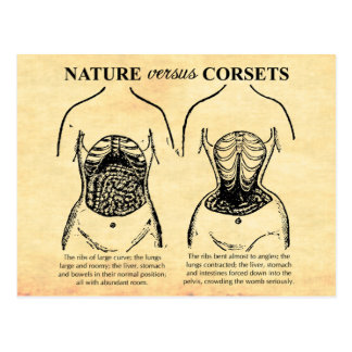 Nature versus Corsets Postcard