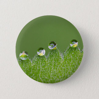 Nature Water Drops Connect with Cosmic 6 Cm Round Badge