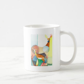 "Nature Watercolor ""Doe and Fawn"" Coffee Mugs"
