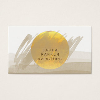 Nature Watercolor Moon Paint Elegant Chic Modern Business Card