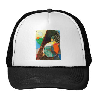 """Nature Watercolor """"Painted Turtle Sunning"""" Mesh Hats"""