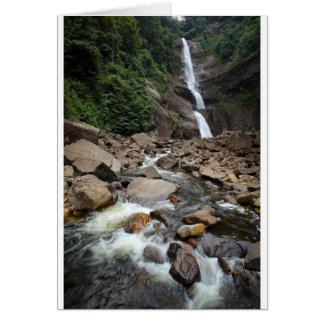 Nature waterfall and river card