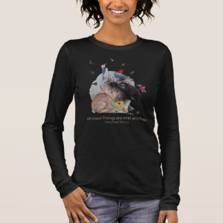 Nature Wildlife with Thoreau quote: Long Sleeve T-Shirt