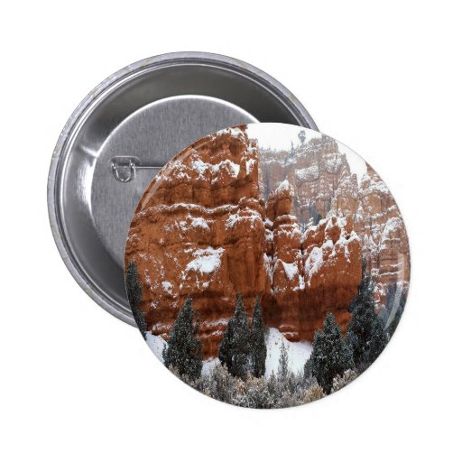 Nature Winter Cold Canyon Button