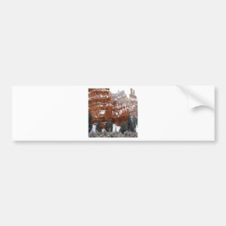 Nature Winter Cold Canyon Bumper Stickers