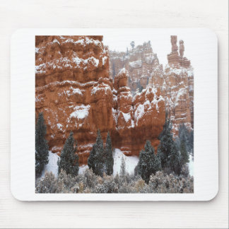 Nature Winter Cold Canyon Mouse Pads