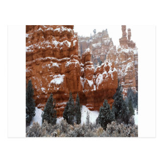 Nature Winter Cold Canyon Postcard