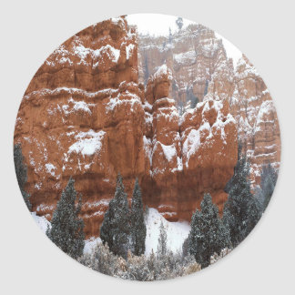 Nature Winter Cold Canyon Stickers