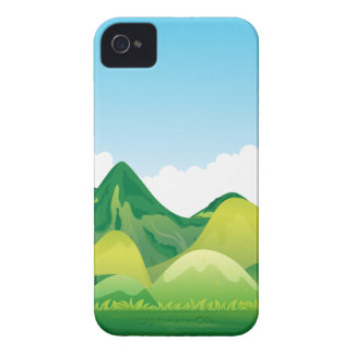 Nature with green mountain and blue sky iPhone 4 cases