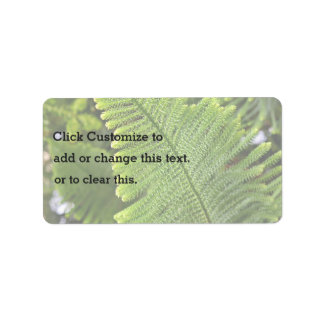 Nature with tree address label