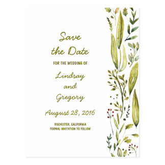 Nature Wonderland Cute Save the Date Postcard