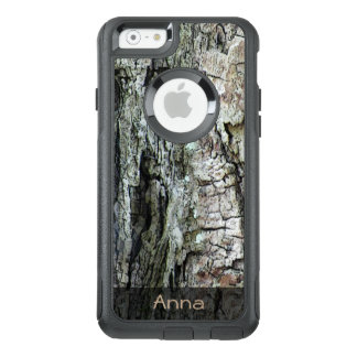 Nature Wood Old Pine Bark Photo Custom Text OtterBox iPhone 6/6s Case