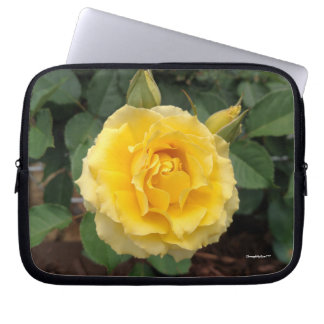 Nature Yellow Bloom Rose Computer Electronics Bag Computer Sleeves