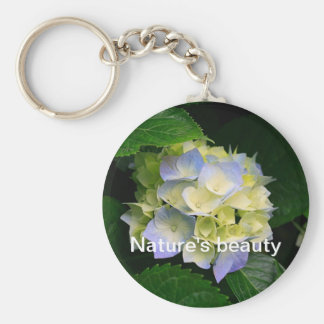 Nature's beauty basic round button key ring