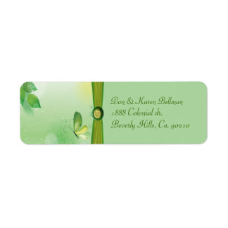 Natures Beauty With Butterfly Return Address Label