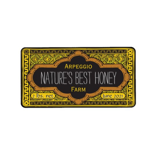 Natures Best Honey Jar Personalised Address Label