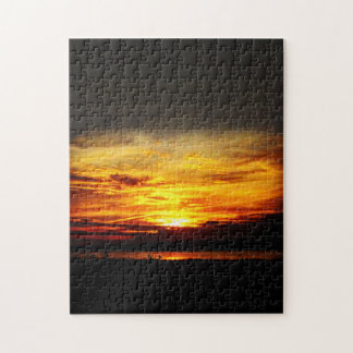 Natures Best - Prairie Lake Sunset Jigsaw Puzzle