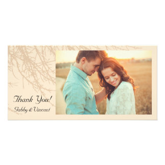 Nature's Branches Thank You Photo Greeting Card
